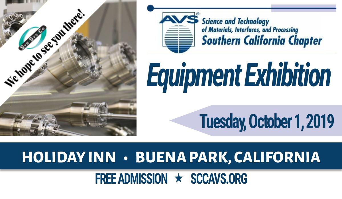 SCCAVS Equipment Exhibition   October 1, 2019